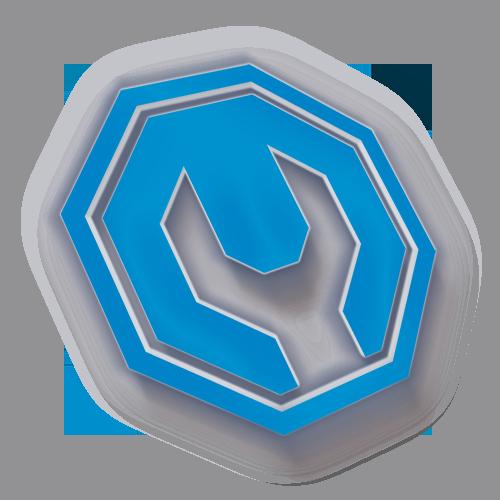 Logotipo 3D SR Motors